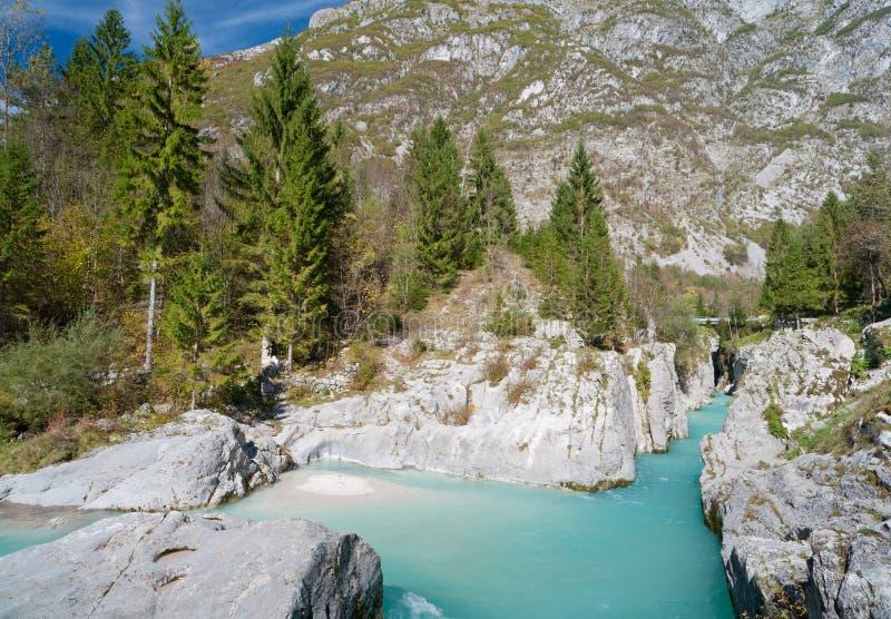 美丽的山河soca绿松石 免版税图库摄影
