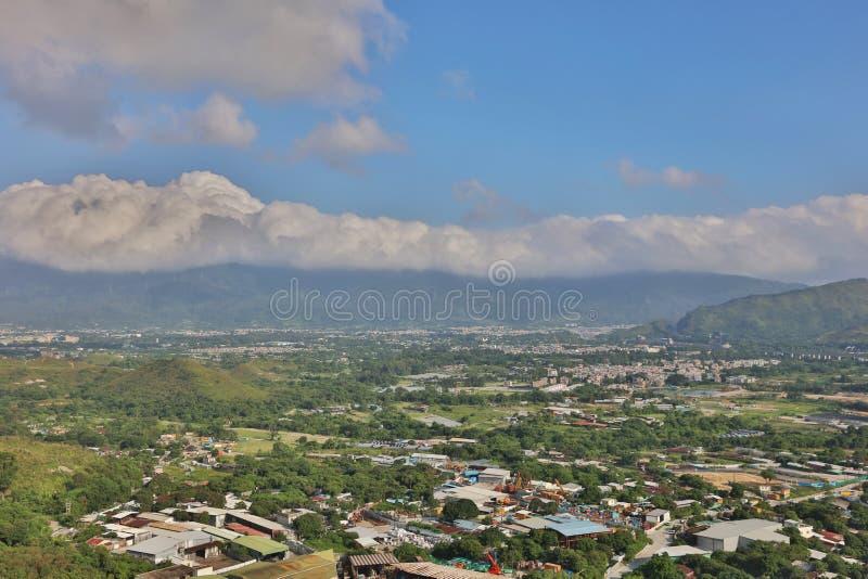美丽的山镇在元朗 图库摄影