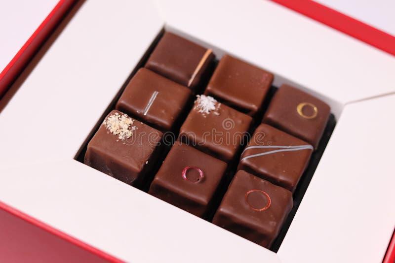 美丽的巧克力箱子 免版税库存图片