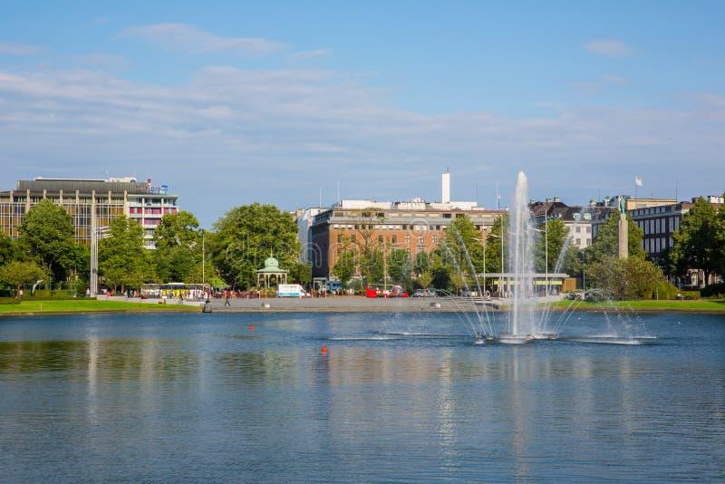 美丽的市卑尔根 库存图片