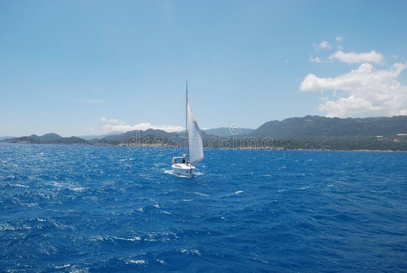 美丽的帆船在火鸡的地中海 免版税库存图片