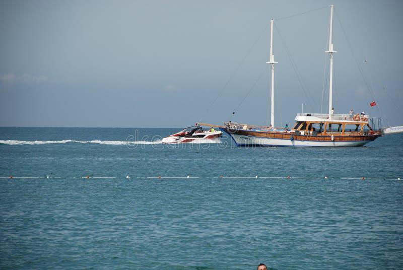 美丽的帆船在火鸡的地中海 库存照片