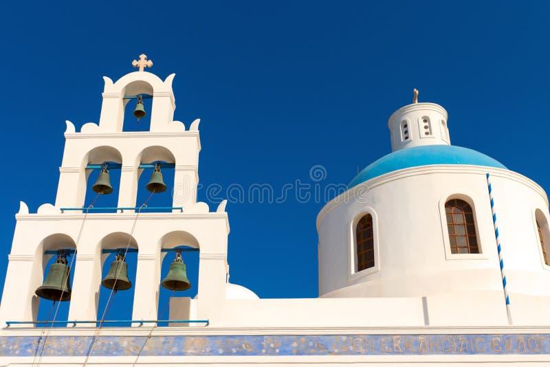 美丽的希腊教会 免版税库存照片