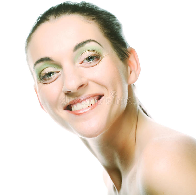 美丽的干净的表面健康纯度皮肤妇女 库存图片