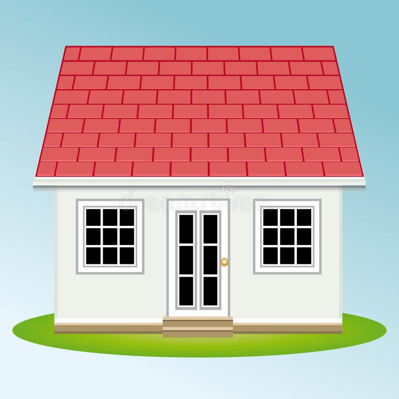 美丽的庭院房子 属性 庄园舱内甲板房子实际租金销售额 皇族释放例证