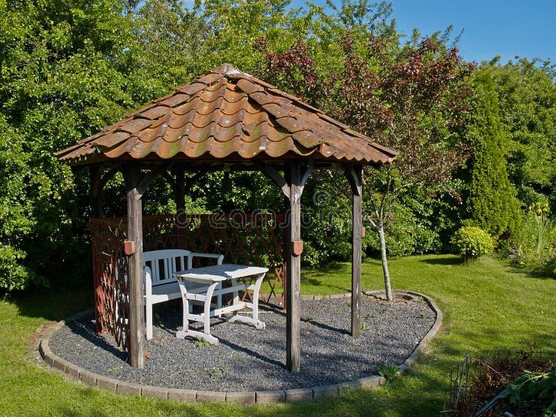 美丽的庭院眺望台家亭子图片