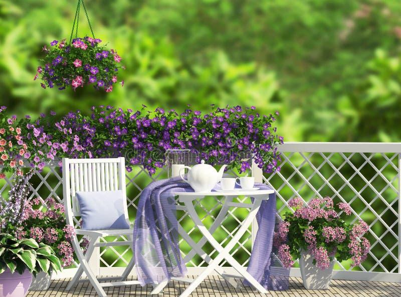 美丽的开放大阳台 图库摄影