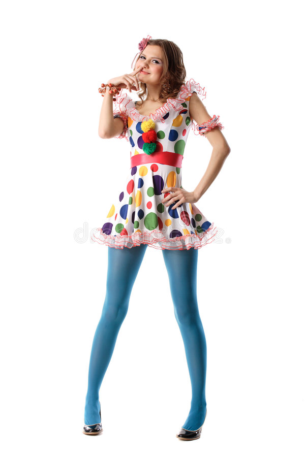 美丽的异常的滑稽的女孩 库存图片