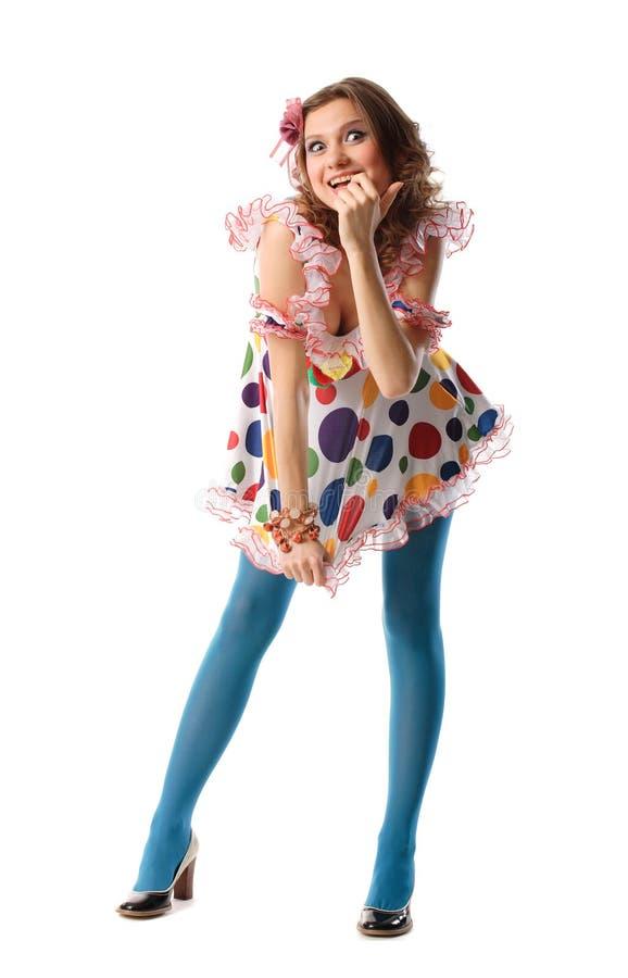 美丽的异常的滑稽的女孩 免版税图库摄影