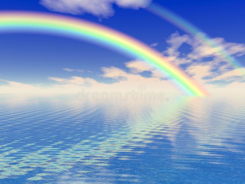 美丽的彩虹 皇族释放例证