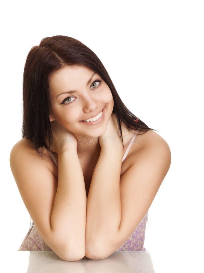 美丽的微笑妇女年轻人 库存图片