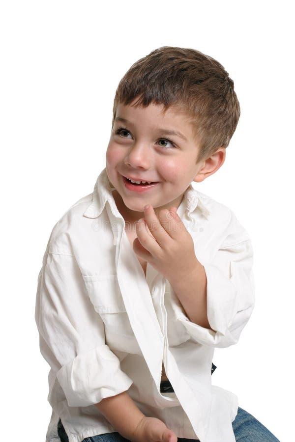 美丽的微笑小孩 免版税库存图片