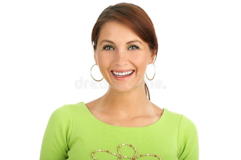 美丽的微笑的妇女 图库摄影