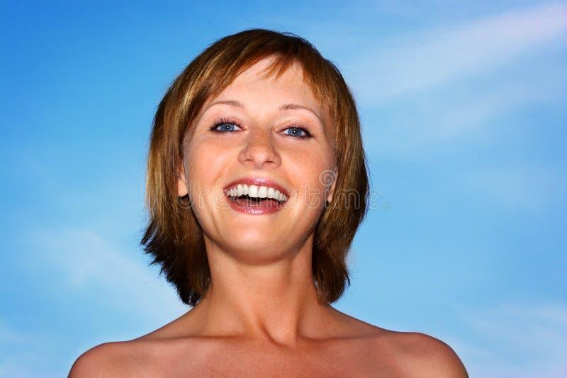 美丽的微笑的妇女 库存图片