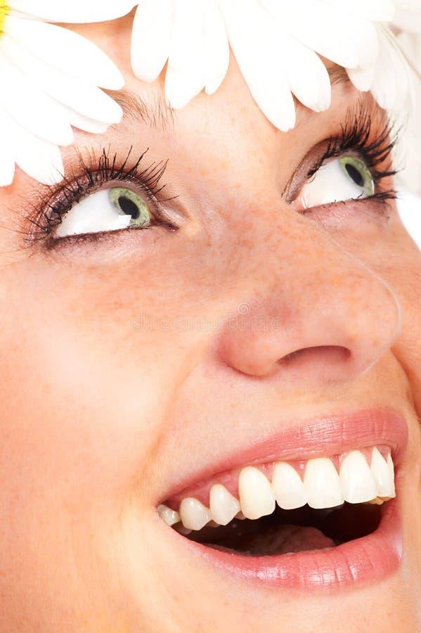 美丽的微笑的妇女 库存照片