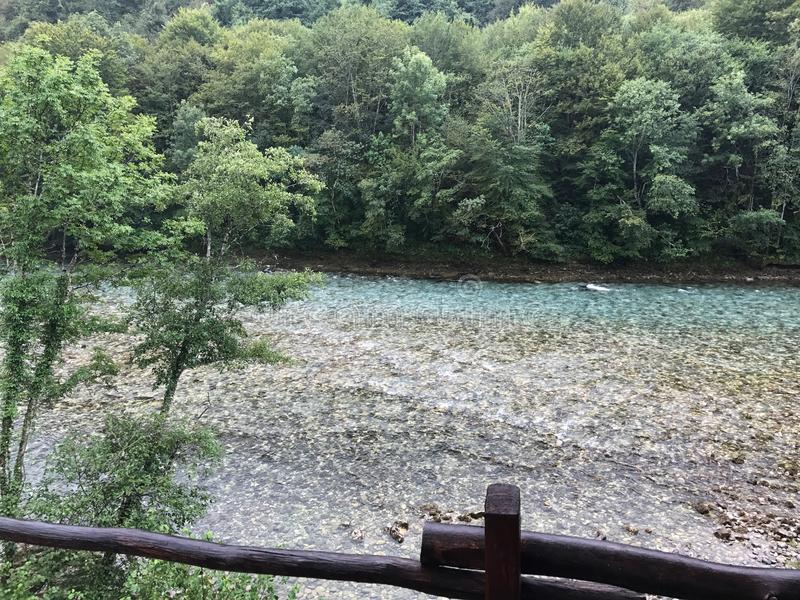 美丽的德里纳河河 库存照片