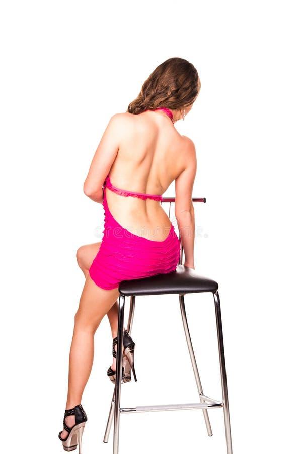 美丽的性感的妇女的后面 免版税库存图片