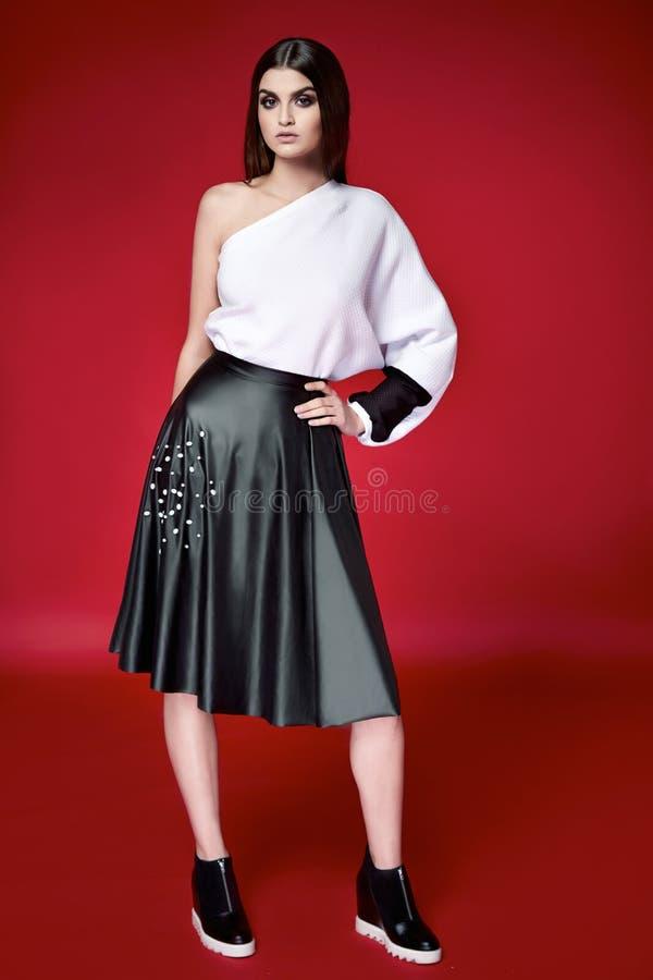 美丽的性感的妇女礼服给汇集编目穿衣 库存图片