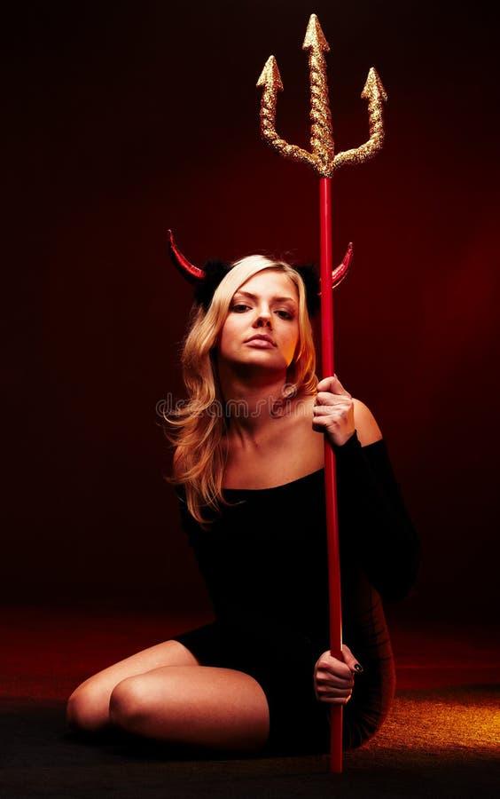 美丽的恶魔三叉戟 库存照片