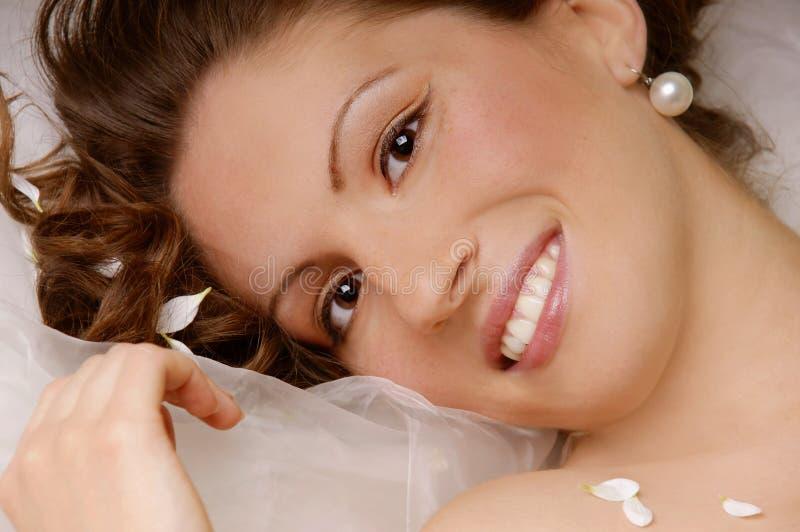 美丽的愉快的妇女 免版税库存图片