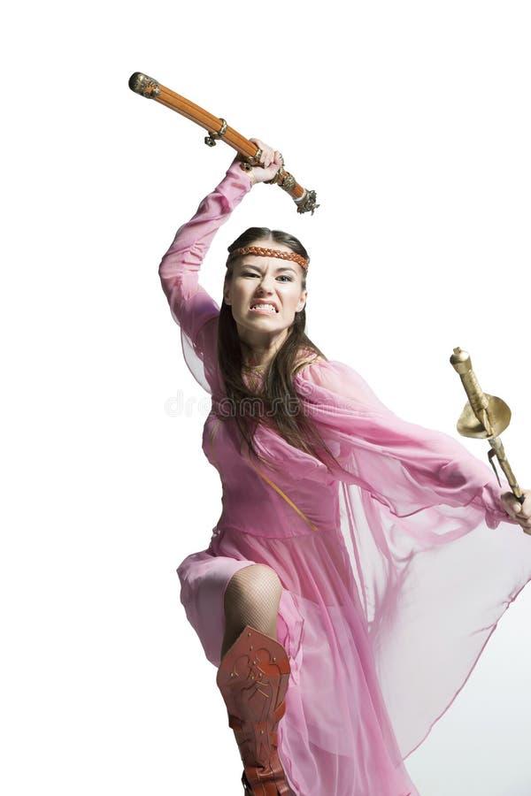 美丽的战士女孩 图库摄影