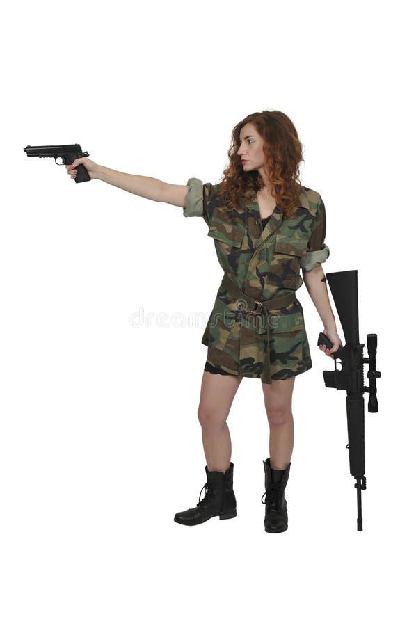 美丽的战士妇女 免版税图库摄影