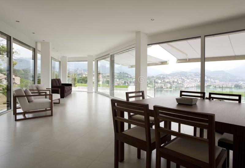 美丽的房子内部现代 免版税库存图片