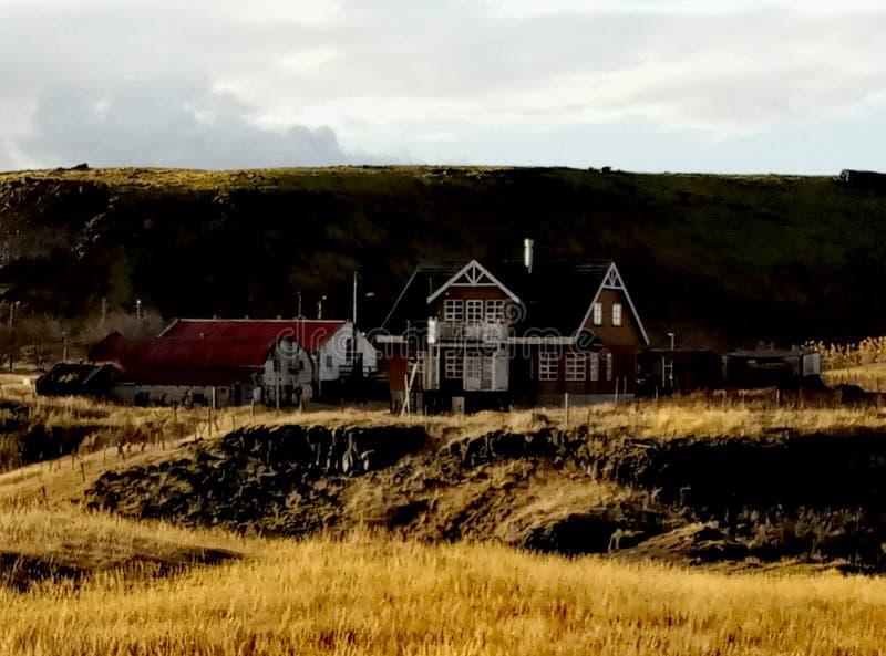 美丽的房子在冰岛 库存图片