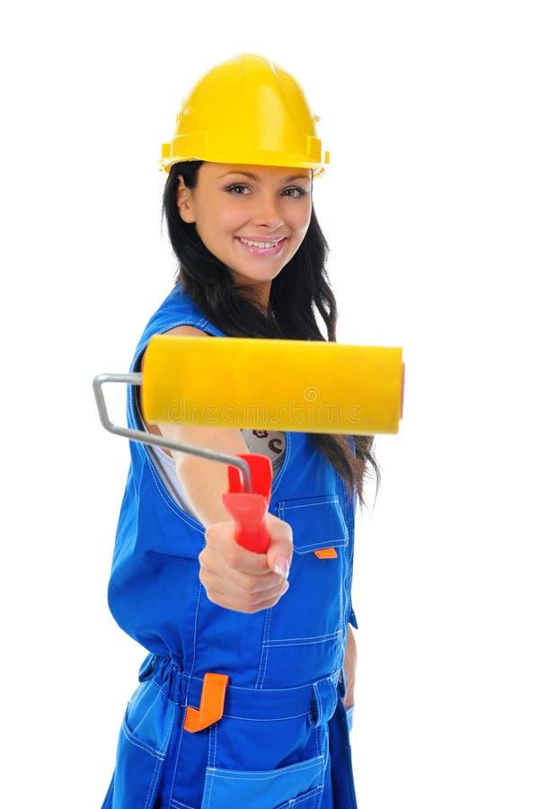 Download 美丽的执行的维修服务妇女年轻人 库存照片. 图片 包括有 家事, 女孩, 工作, 困难, 户内, 帽子, 女性 - 22358240