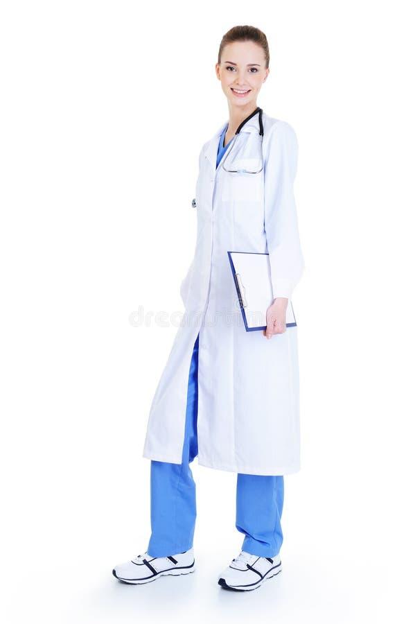 美丽的护士年轻人 免版税库存图片