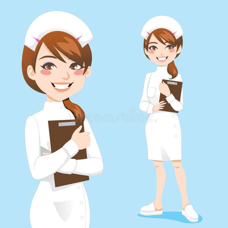 美丽的护士 向量例证