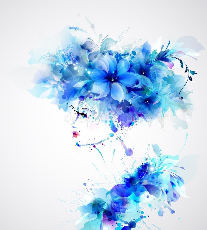 美丽的抽象妇女 向量例证