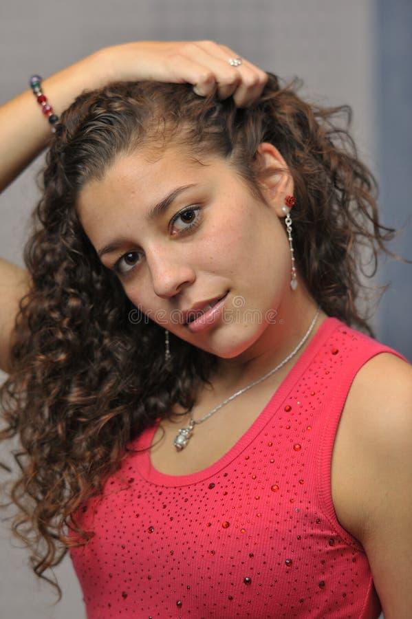 美丽的拉丁女孩 库存照片