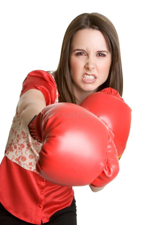美丽的拳击妇女 免版税库存图片