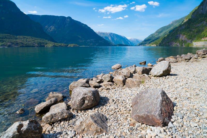 美丽的挪威海湾 免版税库存照片