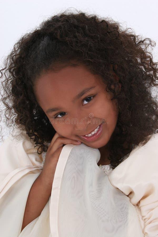 美丽的接近的女孩老六年 库存照片