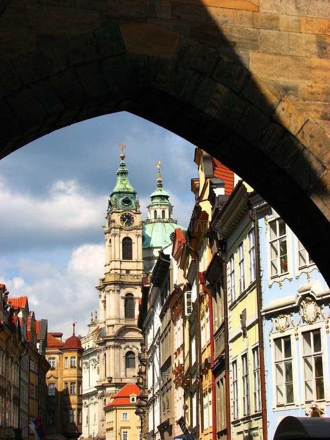 美丽的教会布拉格 库存图片