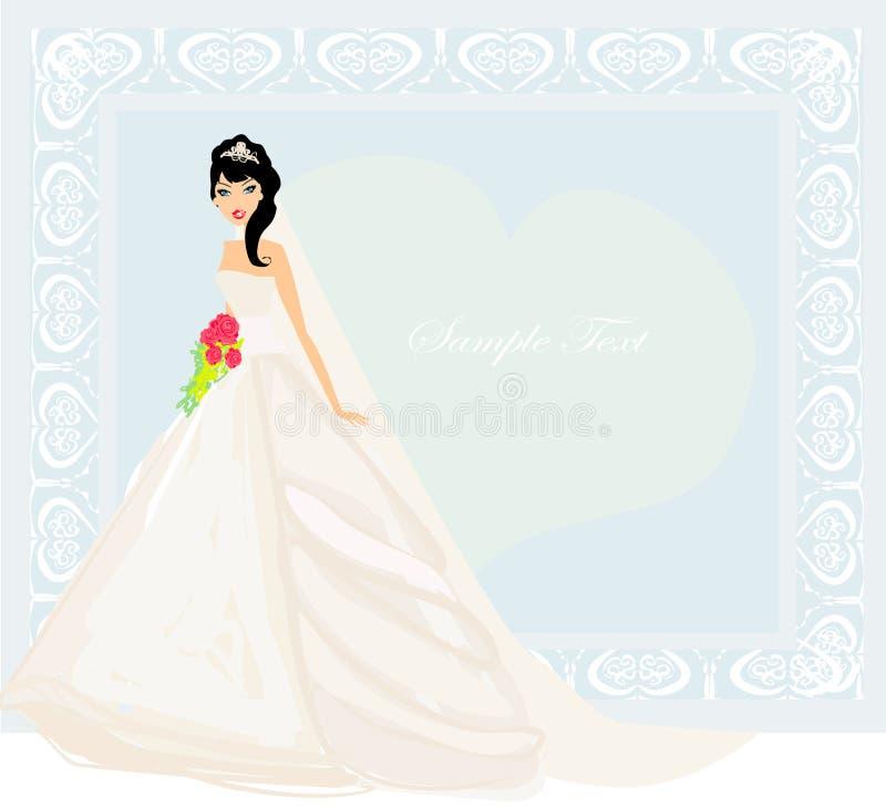美丽的新娘卡片 向量例证
