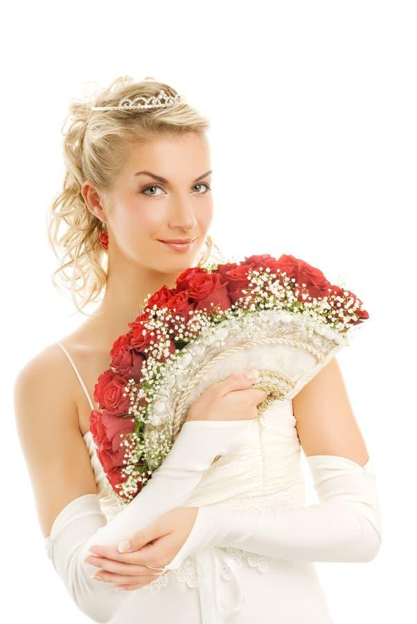 美丽的新娘年轻人 免版税图库摄影