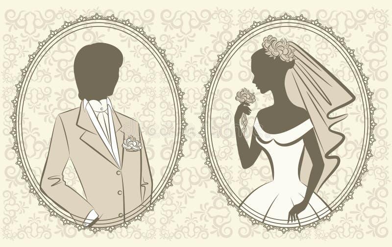 美丽的新娘新郎 向量例证