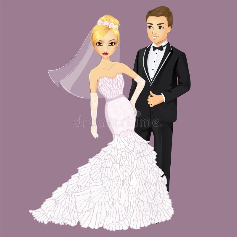 美丽的新娘新郎 皇族释放例证