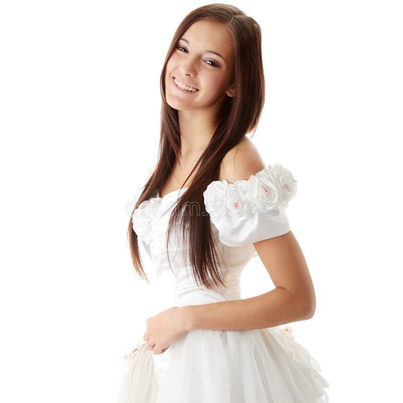 美丽的新娘白种人年轻人 免版税库存照片
