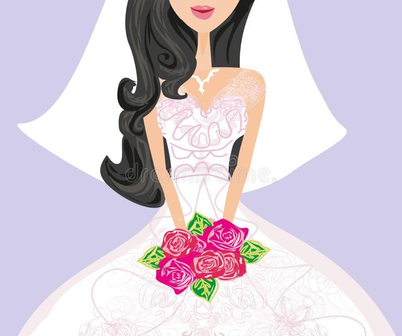 美丽的新娘看板卡 皇族释放例证