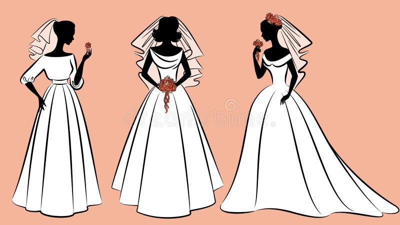 美丽的新娘礼服 皇族释放例证