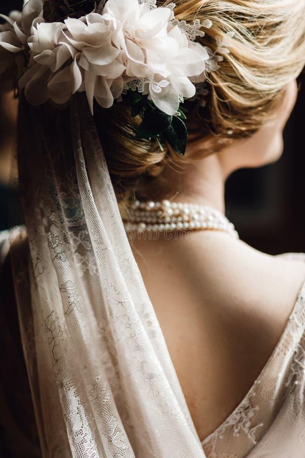 美丽的新娘纵向 免版税库存照片
