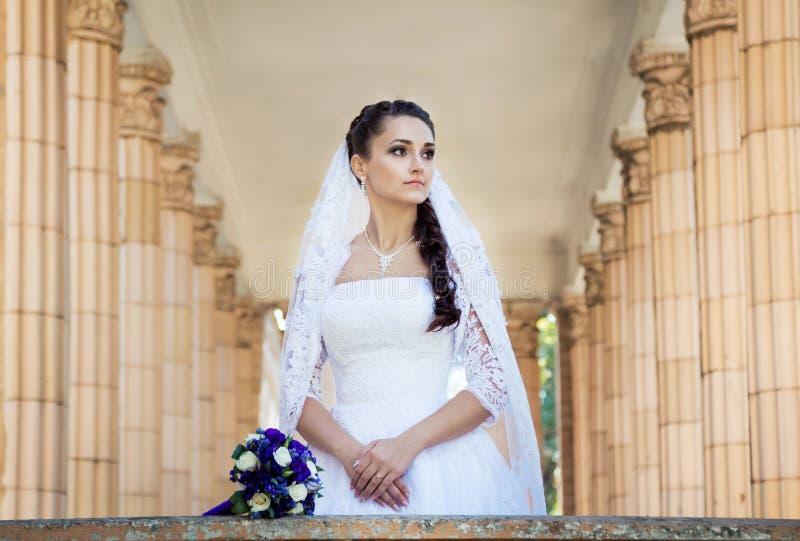 美丽的新娘纵向 库存照片
