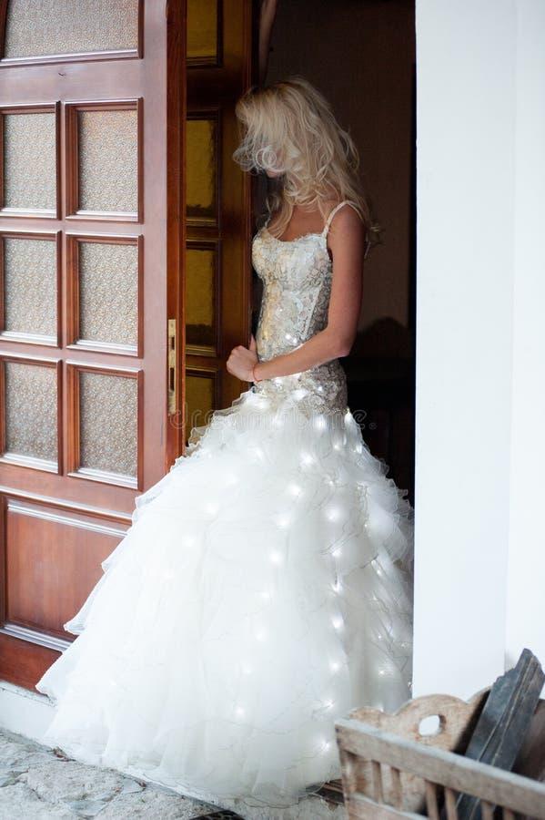 美丽的新娘肉欲的画象  免版税库存照片
