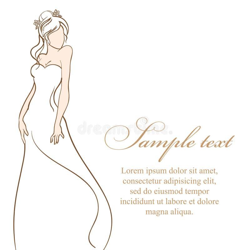 Download 美丽的新娘 也corel凹道例证向量 向量例证. 插画 包括有 装饰, glamor, 设计, 礼服, 减速火箭 - 59109779