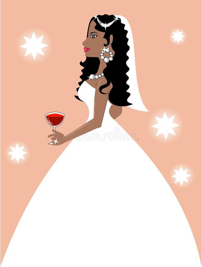 美丽的新娘 皇族释放例证