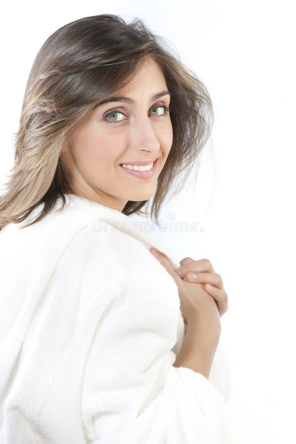 美丽的新鲜的纵向妇女 免版税库存图片